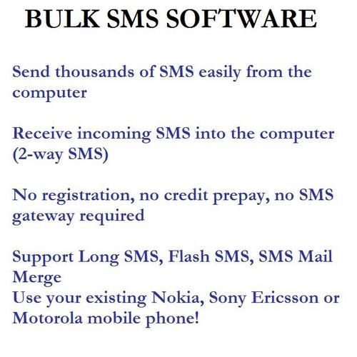 Product picture Bulk SMS Software